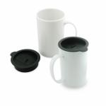 Mug Mediano con Tapa 14 Oz / 12,5 cm Alto