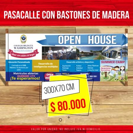 IMPRESION DE PASACALLES EN CALI - BUENAVENTURA- ZARZAL-VALLE DEL CAUCA